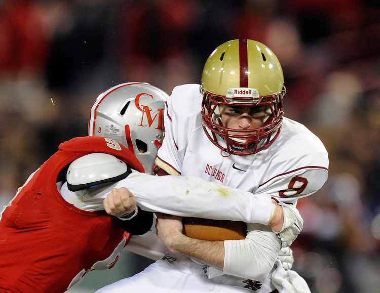 (Boston, MA, 11/25/15) Boston College High School takes on Catholic Memorial during a high school football game at Fenway Park in Boston on Wednesday, November 25, 2015. Staff photo by Christopher Evans