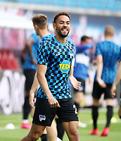 27th May 2020, Red Bull Arena, Leipzig, Germany; Bundesliga football, RB Leipzig versus Hertha Berlin; Matheus Cunha (26, Berlin) warms up