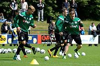 HAREN - Voetbal, Eerste Training FC Groningen  sportpark de Koepel, 01-07-2017,  FC Groningen speler Tom van Weert en FC Groningen speler Ruben Ettergard Jenssen