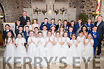 Pupils of Ardfert NS who made their first Holy Communion in St Brendan's Church,Ardfert on Saturday with the pupils were Tomás Hanafin and Fr Tadgh Fitzgerald