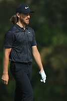 Tommy Fleetwood (ENG) on the 3rd during Round 3 of the Omega Dubai Desert Classic, Emirates Golf Club, Dubai,  United Arab Emirates. 26/01/2019<br /> Picture: Golffile | Thos Caffrey<br /> <br /> <br /> All photo usage must carry mandatory copyright credit (© Golffile | Thos Caffrey)