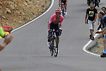 Rigoberto Uran (COL) EF Education First on the final Cat 1 climb up to Observatorio Astrofisico de Javalambre during Stage 5 of La Vuelta 2019 running 170.7km from L'Eliana to Observatorio Astrofisico de Javalambre, Spain. 28th August 2019.<br /> Picture: Eoin Clarke | Cyclefile<br /> <br /> All photos usage must carry mandatory copyright credit (© Cyclefile | Eoin Clarke)