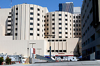 LOS ANGELES - APR 11:  Loma Linda University Medical Center ER Entrance at the Hospital changes due to COVID-19 at the Loma Linda University Medical Center on April 11, 2020 in Loma Linda, CA