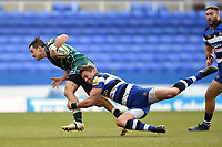 James Marshall of London Irish is tackled by James Wilson of Bath Rugby. Aviva Premiership match, between London Irish and Bath Rugby on November 19, 2017 at the Madejski Stadium in Reading, England. Photo by: Patrick Khachfe / Onside Images