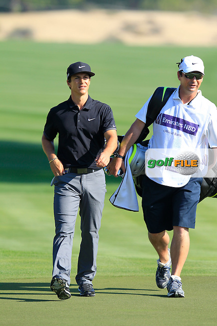 Thorbjorn OLESEN (DEN) walks to the 14th green during Thursday's Round 1 of the 2015 Omega Dubai Desert Classic held at the Emirates Golf Club, Dubai, UAE.: Picture Eoin Clarke, www.golffile.ie: 1/29/2015