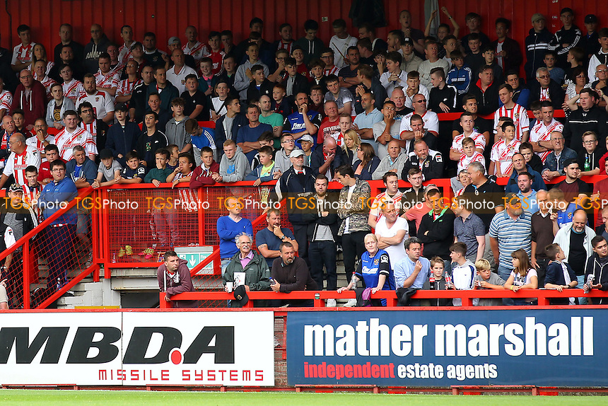 Stevenage fans during Stevenage vs Hartlepool United, Sky Bet EFL League 2 Football at the Lamex Stadium on 3rd September 2016