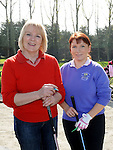 Mary Durnin and Joanne McShane pictured at the captain's drive in at ardee golf club. Photo: Colin Bell/pressphotos.ie