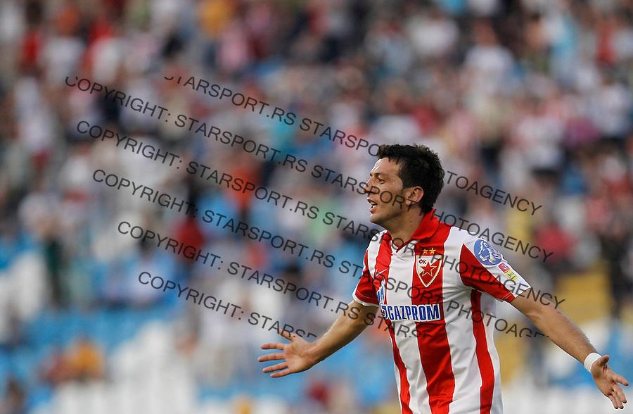 Fudbal, Jelen super liga, sezona 2011/12.Crvena Zvezda VS. Rad.Marko Miric celebrates the goal.Belgrade, 12.05.2012..foto: Srdjan Stevanovic/Starsportphoto ©