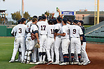 May 21, 2015; Stockton, CA, USA; Pepperdine Waves players during the WCC Baseball Championship at Banner Island Ballpark.