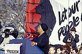 "Entertainer Pearl Bailey performs ""Let my People Go"" at the ""Campaign to the Summit"", a march on Washington, D.C. supporting freedom for Jews living in the Soviet Union, on Sunday, December 6, 1987.  200,000 people marched to focus attention on the repression of Soviet Jewry, was scheduled a day before United States President Ronald Reagan and Soviet President Mikhail Gorbachev began a 2 day summit in Washington where they signed the Intermediate Range Nuclear Forces (INF) Treaty.<br /> Credit: Ron Sachs / CNP"