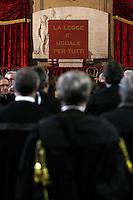 Apertura Anno Giudiziario nel distretto di Napoli nello storico salone dei Busti di Castel Capuano<br /> la legge uguale per tutti