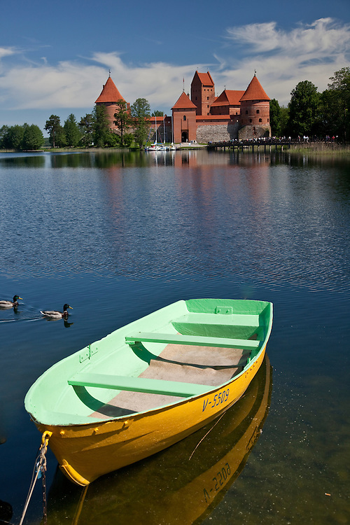 Trakai Castle was build to fend off German knights in the 14th century\\