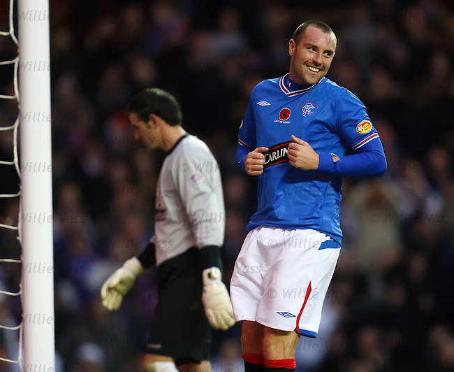 Kris Boyd delighted after scoring goal no 2 past Paul Gallacher