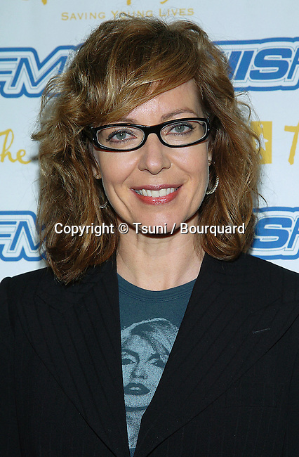 Allison Janney arriving at the Trevor Project's Cracked Xmas 7 at the Wiltern Theatre in Los Angeles. December 5, 2004.