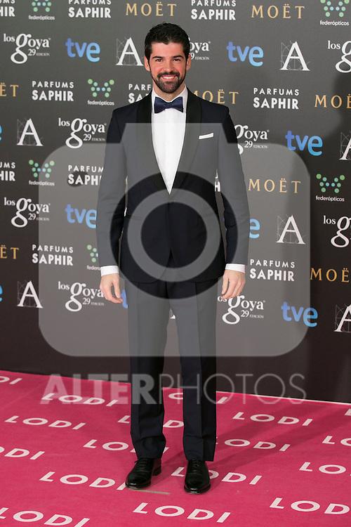 Miguel Angel Munoz attend the 2015 Goya Awards at Auditorium Hotel, Madrid,  Spain. February 07, 2015.(ALTERPHOTOS/)Carlos Dafonte)