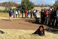 Kenyans in the Dandora neighborhood of Nairobi wait to vote at Dandora Secondary School on 4 March 2013. Residents began queuing in the pre-dawn hours and some waited over 12 hours. .JENNIFER HUXTA / AGENCE FRANCE PRESSE / GETTY IMAGES