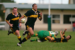 K. Koiatu makes one of his many telling runs. Counties Manukau Premier Club Rugby, Drury vs Bombay played at the Drury Domain, on the 14th of April 2006. Bombay won 34 - 13.