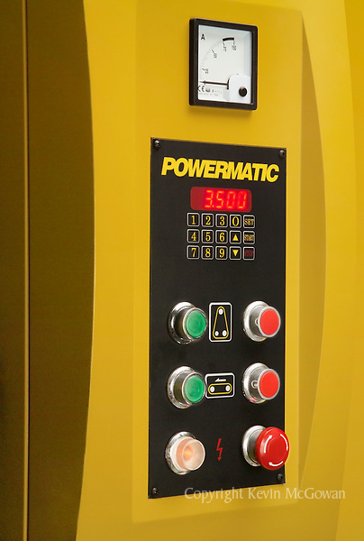 Control panel of large woodworking machine