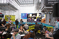 NEW YORK, USA - October 3: A general view of the Javits Convention Center  on October 3, 2019 in New York, USA.<br /> The 2019 New York Comic-Con at the Jacob K. Javits Convention Center Day 1 with the latest in superhero movies, sci-fi shows, animation, video games, comic book releases available to attendees.<br /> (Photo by Luis Boza/VIEWpress/Corbis via Getty Images)