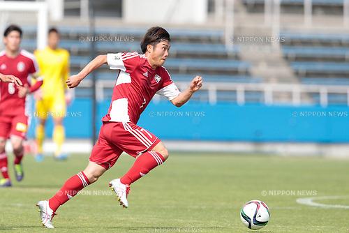 Tasuku Hiraoka (U-22 J.League), <br /> APRIL 29, 2015 - Football /Soccer : <br /> 2015 J3 League match <br /> between Y.S.C.C.Yokohama 0-0 U-22 J.League selection <br /> at NHK Spring Mitsuzawa Football Stadium, Kanagawa, Japan. <br /> (Photo by AFLO SPORT)