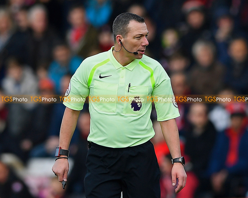 Referee Kevin Friend  during AFC Bournemouth vs Arsenal, Premier League Football at the Vitality Stadium on 14th January 2018