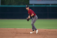 AZL Diamondbacks second baseman Blaze Alexander (3) gets ready to make a throw during an Arizona League game against the AZL White Sox at Camelback Ranch on July 12, 2018 in Glendale, Arizona. The AZL Diamondbacks defeated the AZL White Sox 5-1. (Zachary Lucy/Four Seam Images)