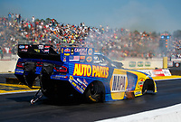 Mar 18, 2017; Gainesville , FL, USA; NHRA funny car driver Ron Capps during qualifying for the Gatornationals at Gainesville Raceway. Mandatory Credit: Mark J. Rebilas-USA TODAY Sports