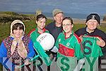 ON THE BALL: Members of the newly re-formed Ballybunion ladies football team with local drama group members, announcing details of a fundraising play for the club, l-r: Mairead O'Neill, Molly Breen (Club Secretary), Robert Stack, Shirley O'Sullivan, Pasty Costelloe.