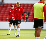 David Brooks of Sheffield Utd warms up during the Championship match at the City Ground Stadium, Nottingham. Picture date 30th September 2017. Picture credit should read: Simon Bellis/Sportimage