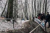 Lander Loockx (BEL/U23)<br /> <br /> U23 Men's Race<br /> CX Vlaamse Druivencross Overijse 2017