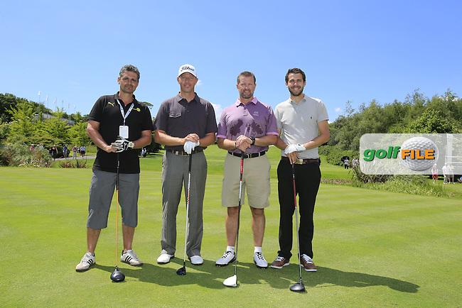 Soren Hansen (DEN) team during Wednesday's Pro-Am of the 2014 Irish Open held at Fota Island Resort, Cork, Ireland. 18th June 2014.<br /> Picture: Eoin Clarke www.golffile.ie