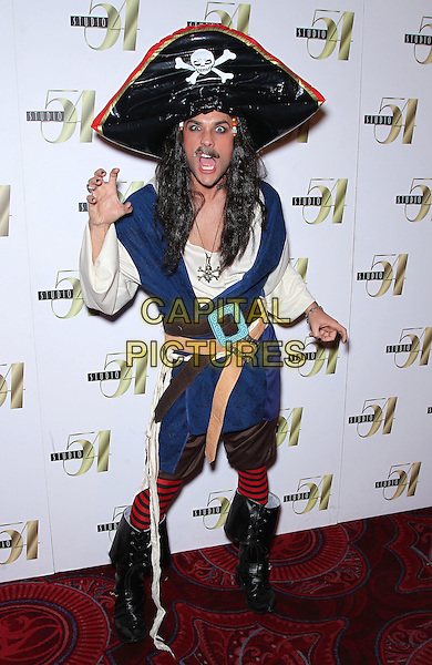JOSH STRICKLAND .Holly Madison hosts Hollyween at Studio 54 inside the MGM Grand Resort Hotel and Casino, Las Vegas, Nevada, USA, 30th October 2010..full length pirate hat wig boots blue tights costume outfit black.CAP/ADM/MJT.© MJT/AdMedia/Capital Pictures.