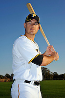 Feb 28, 2010; Bradenton, FL, USA; Pittsburgh Pirates  infielder Jeff Clement (6) during  photoday at Pirate City. Mandatory Credit: Tomasso De Rosa/ Four Seam Images
