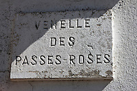 Europe/France/Poitou-Charentes/17/Charente-Maritime/Ile de Ré/Ars-en-Ré: Plaque d'une ruelle,