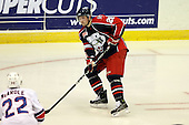 January 9th, 2009:  Andrey Plekhanov (28) of the Syracuse Crunch controls the puck during the third period vs. the Rochester Amerks at Blue Cross Arena in Rochester, NY.  Rochester defeated Syracuse 3-1 for their third straight win.  Photo Copyright Mike Janes Photography 2009