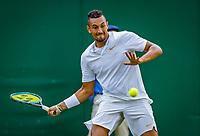 London, England, 5 th. July, 2018, Tennis,  Wimbledon, Men's singles,  Nick Kyrgios (AUS)<br /> Photo: Henk Koster/tennisimages.com