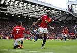 Paul Pogba of Manchester United celebrates scoring during the premier league match at the Old Trafford Stadium, Manchester. Picture date 29th April 2018. Picture credit should read: Simon Bellis/Sportimage