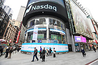 NEW YORK, NY, 03.04.2017 - ECONOMIA-NASDAQ - Vista da bolsa de valores Nasdaq em New York nesta segunda-feira, 03.(Foto: William Volcov/Brazil Photo Press)