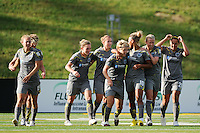 Lori Lindsey (6) of the Philadelphia Independence celebrates scoring the opening goal of the game during a Women's Professional Soccer (WPS) match against Sky Blue FC at John A. Farrell Stadium in West Chester, PA, on June 6, 2010.