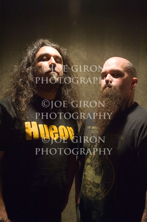 Portraits of Slayer members, Tom Araya & Kerry King.
