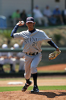 June 5, 2010: Christian Bergman of UC Irvine during NCAA Regional game against Kent State at Jackie Robinson Stadium in Los Angeles,CA.  Photo by Larry Goren/Four Seam Images