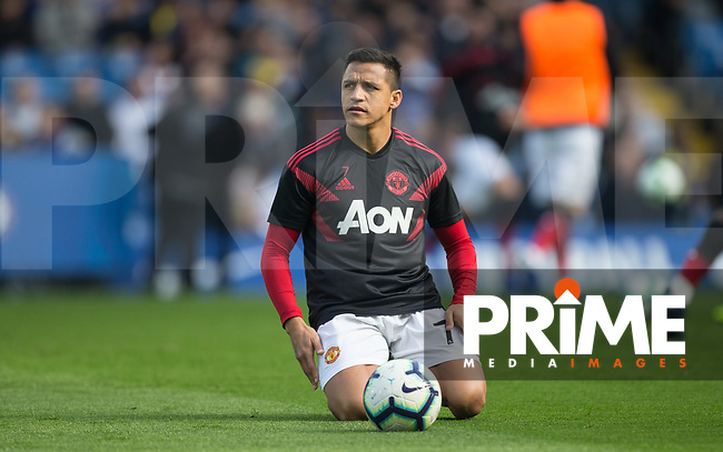 Alexis Sánchez of Man Utd pre match during the Premier League match between Chelsea and Manchester United at Stamford Bridge, London, England on 20 October 2018.  **EDITORIAL USE ONLY** - Photo by Andy Rowland / PRiME Media Images.
