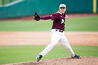 Matt Hall #32 of the Missouri State Bears delivers a pitch during a game against the Wichita State Shockers at Hammons Field on May 5, 2013 in Springfield, Missouri. (David Welker/Four Seam Images)