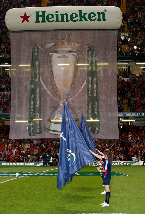 Photo: Richard Lane/Richard Lane Photography. .Munster v Toulouse. Heineken Cup Final. 24/05/2008. .Heineken Cup banner at the Millennium Stadium.