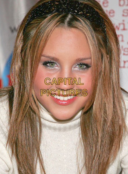 """AMANDA BYNES.at handprint ceremony to promote Dreamwork's film """"She's the Man"""" at Planet Hollywood, New York, NY, USA,.24 February 2006..portrait headshot.Ref: ADM/JL.www.capitalpictures.com.sales@capitalpictures.com.©Jackson Lee/AdMedia/Capital Pictures."""