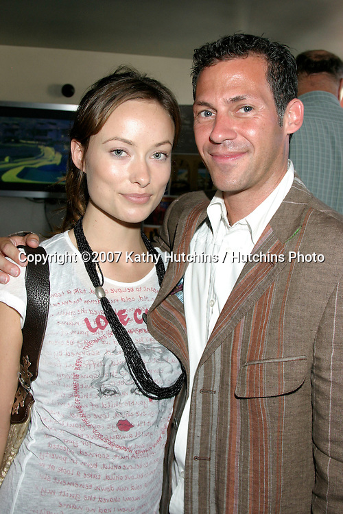 Olivia Wilde & Gavin Keilly .GBK Emmy Gifting Suite.Roosevelt Hotel.Los Angeles,  CA.September 13, 2007.©2007 Kathy Hutchins / Hutchins Photo...