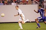 11 March 2008: Chad Barrett (USA) (19) looks to reach the ball before Yenier Bermudez (CUB) (right). The United States U-23 Men's National Team tied the Cuba U-23 Men's National Team 1-1 at Raymond James Stadium in Tampa, FL in a Group A game during the 2008 CONCACAF's Men's Olympic Qualifying Tournament.