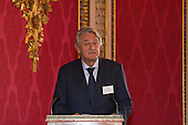 London, Uk. 15/10/2015. Michael Lake CBE, Director of the Royal Commonwealth Society. The Duchess of Cornwall on behalf of Her Majesty The Queen, Patron of The Royal Commonwealth Society, holds a reception for winners of The Queen's Commonwealth Essay Competition at Buckingham Palace. The Queen's Commonwealth Essay Competition was founded in 1883 and is the world's oldest international schools' writing contest. This year's competition, sponsored by Cambridge University Press, received more than 13,000 entries from over 600 schools in 49 Commonwealth countries and territories. The Duchess of Cornwall hands out awards to young writers who have travelled from across the Commonwealth to attend the reception. This year's winners have come from Cyprus, Botswana, The Cayman Islands and as far away as Tristan da Cunha - over 9000km away.