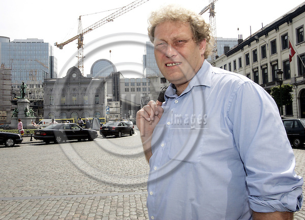 BRUSSELS - BELGIUM - 21 JUNE 2005 -- Frederic HAUGE, President of the Bellona Foundation, is nominated as a member of the Technology Platform for Zero Emission Fossil Fuel Powered Plants Advisory Council at the EU-Commission. In the background the arc of the EU-Parliament.--  PHOTO: JUHA ROININEN / EUP-IMAGES