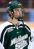 Justin Abdelkader (Michigan State - Muskegon, MI) lines up. The University of Minnesota Golden Gophers defeated the Michigan State University Spartans 5-4 on Friday, November 24, 2006 at Mariucci Arena in Minneapolis, Minnesota, as part of the College Hockey Showcase.
